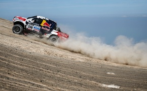 Picture Sea, Dust, Machine, Toyota, Rally, Dakar, SUV, The rise
