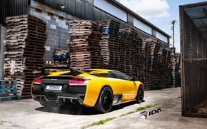 Picture Lamborghini, yellow, Murcielago, adv1