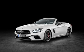 Picture white, Mercedes-Benz, convertible, Mercedes, AMG, AMG, without a roof, R231, SL-Class