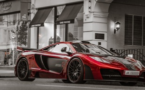 Picture red, red, supercar, mclaren, mp-4-12c