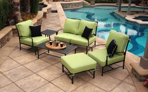 Picture pool, view, terrace, furniture, outdoor