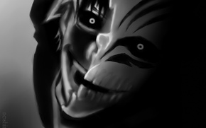 Picture look, joy, mask, guy, Bleach, Bleach, madness, Kurosaki Ichigo, art, Shinigami, monochrome, neshiro, alter ego