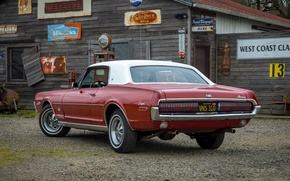 Picture rear view, Cougar, 1968, Mercury, XR-7