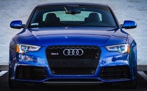 Picture blue, Audi, Parking