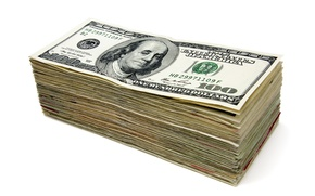 Picture money, white background, dollars, pack, currency, the bucks, bills, success, wealth, cash, prosperity