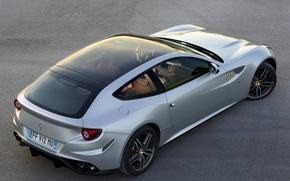 Picture Ferrari, supercar, silver, 4x4, Panoramic