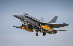 Picture fighter, the rise, F/A-18, Hornet, deck, McDonnell Douglas