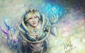 Picture Art, Valve, Crystal Maiden, Dota 2, Sketchy Fan