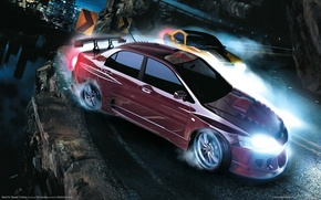 Picture machine, night, race, need for speed, carbon