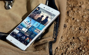 Picture Sony, White, Sand, 2014, Xperia, Smartphone, Protected