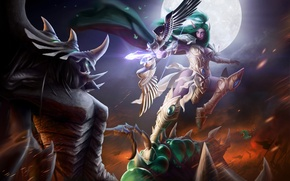 Picture warcraft, sylvanas, Heroes of the Storm, moba, zagara