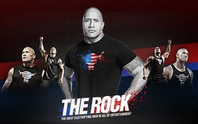 Wallpaper rock, Dwayne Wade, the rock, dwein weid