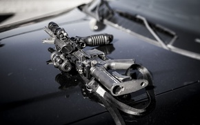 Picture weapons, the hood, machine, assault rifle, AR-15, assault rifle
