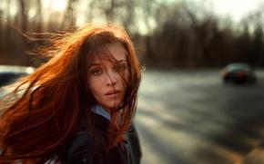 Wallpaper the wind, hair, portrait, Russia, sunlight, George Chernyadev, Fleeing