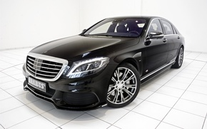 Picture black, Mercedes-Benz, Brabus, sedan, Mercedes, Hybrid, BRABUS, hybrid, S-Class, W222, 2015, B50