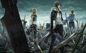 Picture sword, weapon, final fantasy, squall leonhart, zidane tribal