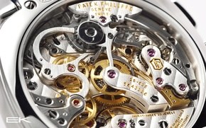 Picture watch, mechanism, details