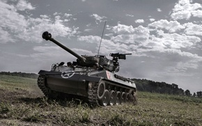 """Picture field, the sky, Hellcat, tank fighter, """"witch"""", M18"""