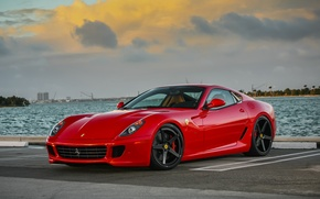 Picture Ferrari, red, GTB, 599