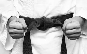 Wallpaper sport, kimono, fists, karate