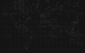 Wallpaper the world, black, map