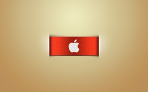 Picture brand, red, background, apple, fabric, logo