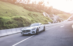 Picture Mercedes, motion, AMG GT