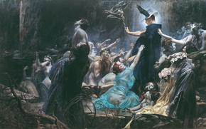 Picture Painting, The Souls of Acheron, Adolf Hirémy-Hirschl, 3564x2097