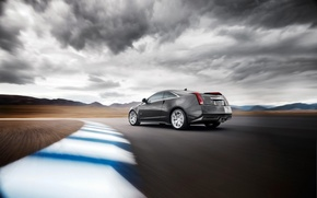 Picture road, Cadillac, speed, CTS-V