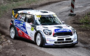 Picture White, Sport, Machine, Turn, Race, Mini Cooper, Car, WRC, Rally, MINI, Mini Cooper