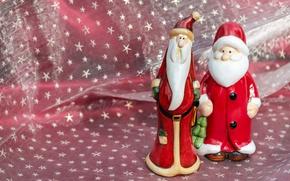 Picture stars, red, background, holiday, toys, new year, Christmas, fabric, beard, Santa Claus, Santa Claus, Santa, …