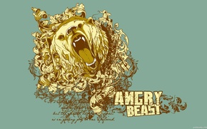 Wallpaper style, animal, Vector, background, bear