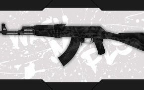 Picture frame, spot, machine, white background, AK-47, Kalashnikov, paint, workshop, cs go, custom paint job, wash …