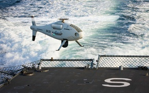 Wallpaper sky, sea, camera, wave, UAV, drone, kumo, unmanned aerial vehicle, Shiebel, Austrian unmanned aerial vehicle, ...