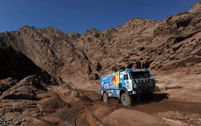 Picture auto, Wallpaper, race, sport, mountain, master, cars, auto, wallpapers, KAMAZ, kamaz, Dakar, dakar