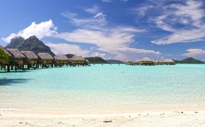Picture tropics, the ocean, the hotel, Laguna, Bungalow