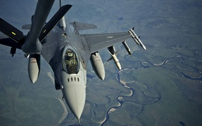 "Picture fighter, flight, F-16, Fighting Falcon, multipurpose, refueling, ""Fighting Falcon"""