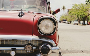Picture car, retro, photo, Machine, car, red, chevrolet, cars, Chevrolet, old style