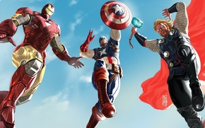 Picture 2012, iron man, Thor, captain America, Chris Evans, the Avengers, Chris Hemsworth, The Avengers, Robert …