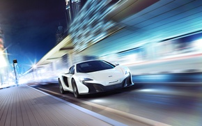 Picture McLaren, City, Speed, White, Spider, Supercar, 650S