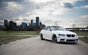 Picture BMW, White, BMW, Drives, White, E92, Strasse Wheels