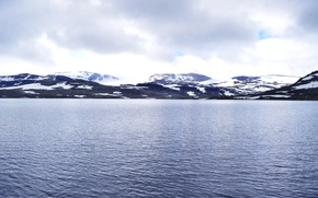 Picture cold, clouds, snow, landscape, mountains, nature, Norway, fjerde