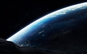 Picture space, surface, earth, planet, asteroid, meteorite