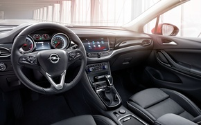Wallpaper interior, dashboard, 2015, Opel, Astra, torpedo, Astra, salon, Opel, the wheel