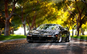 Picture road, rays, reflection, trees, acura nsx, honda nsx, Acura