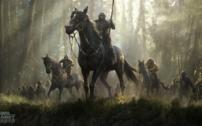 Picture forest, horse, spear, art, Planet of the apes: the Revolution, Dawn of the planet of …