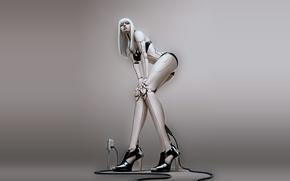 Wallpaper girl, robot, cyborg