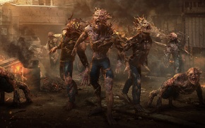 Wallpaper street, zombie, infection, fiction, the city, zombies