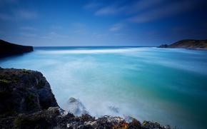 Picture landscape, the ocean, rocks, Portugal, Portugal, Atlantic Ocean, Algarve