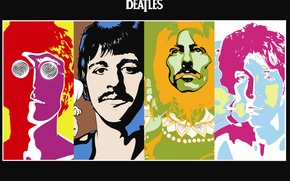 Picture The Beatles, The Beatles, psychedelic, Beatles band